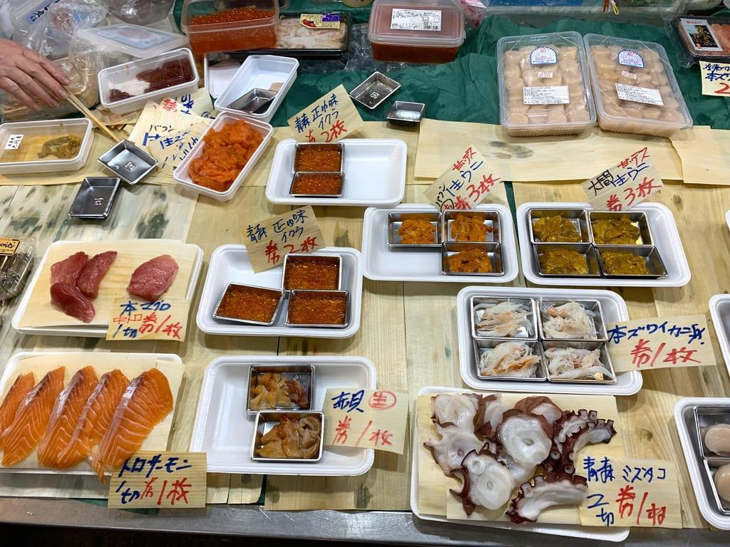 青森魚菜センターバフンウニといくら