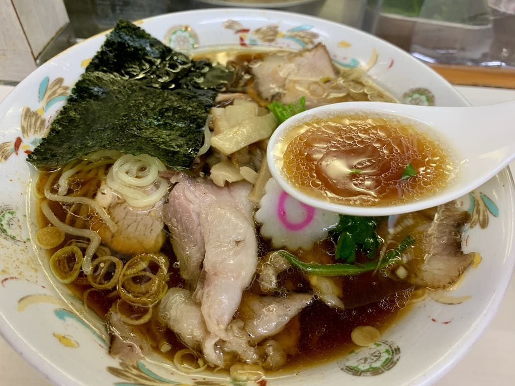 Aoshima Shokudo soup at Aoshima Shokudo Akihabara store