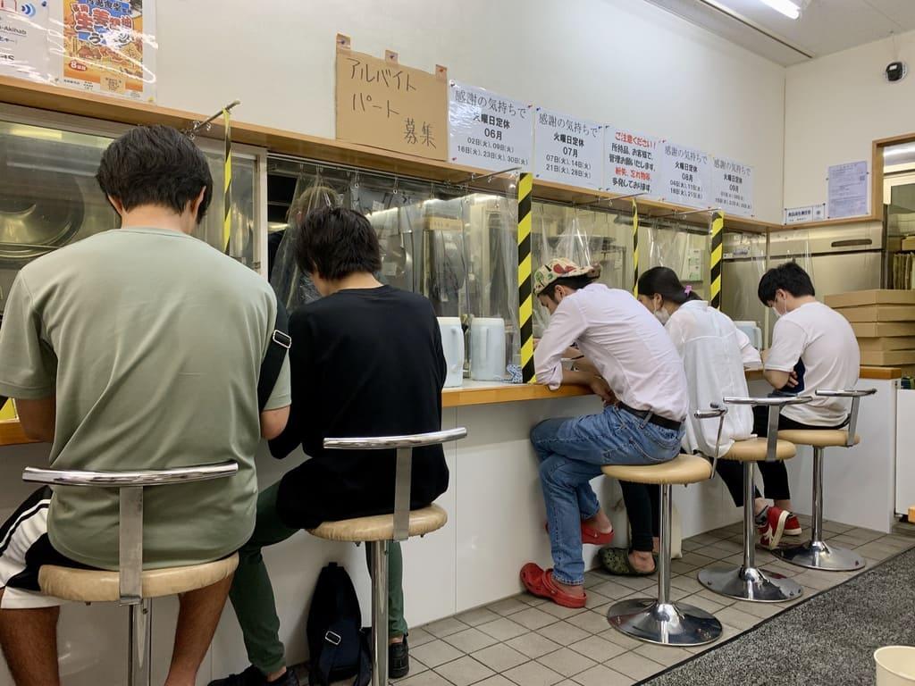 Aoshima Shokudo Akihabara store inside