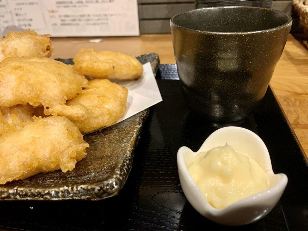 鶏コロールのとり天食べ放題ランチマヨネーズ