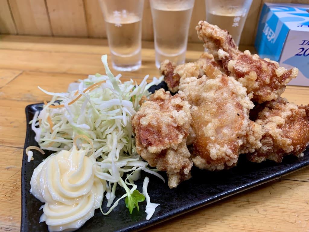 永楽食堂鶏の唐揚げ