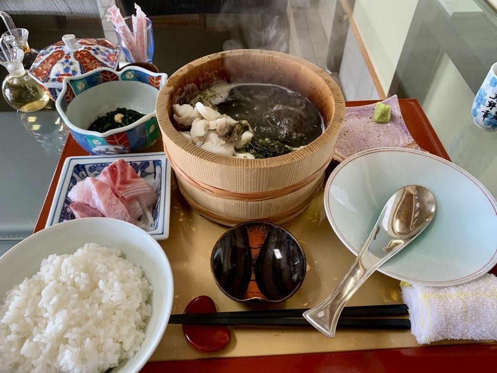 美野幸天然真鯛の石焼定食