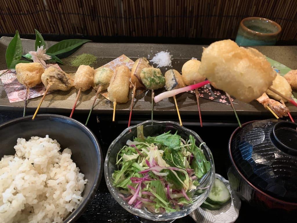 舞妓飯祇園本店のミックス天ぷら膳実食