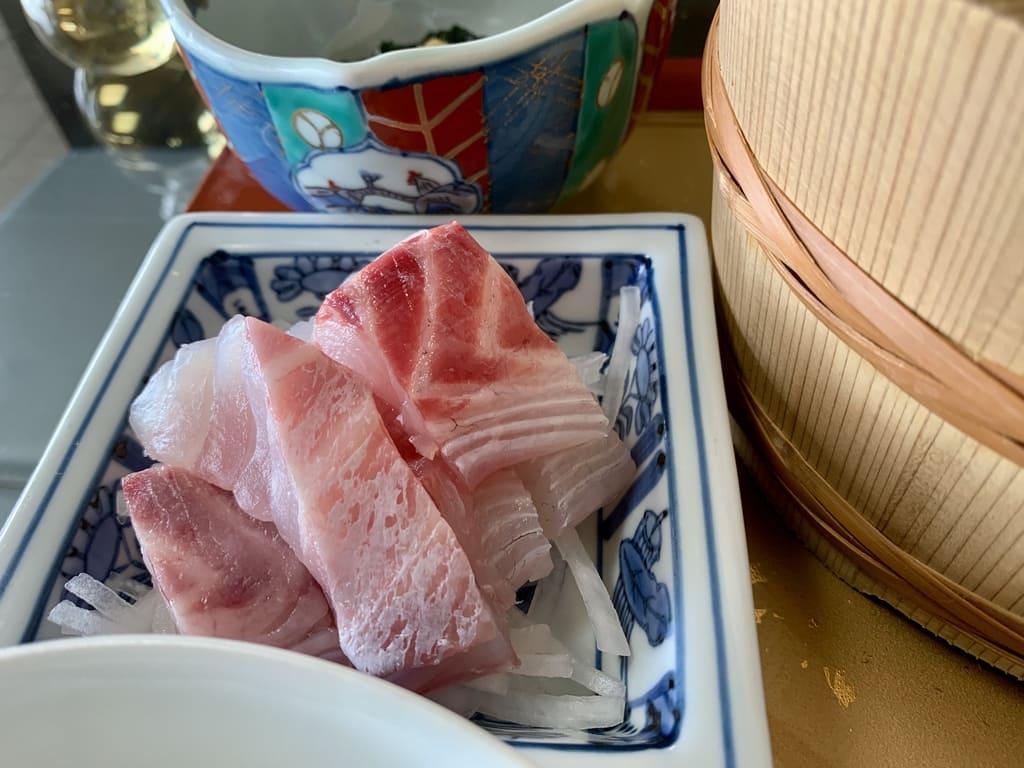 美野幸天然真鯛の刺身