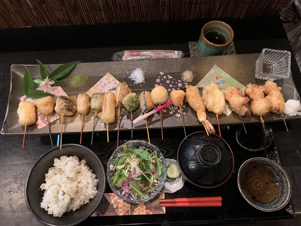 舞妓飯祇園本店のミックス天ぷら膳