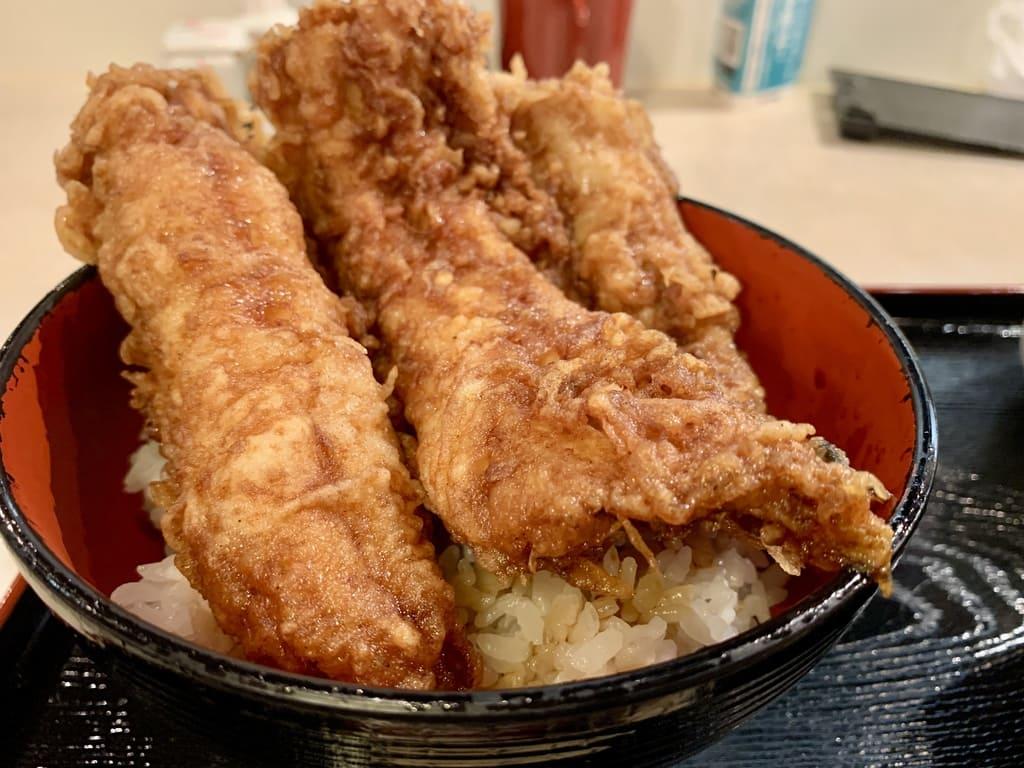 ぎおん天ぷら天周の穴子天丼近影