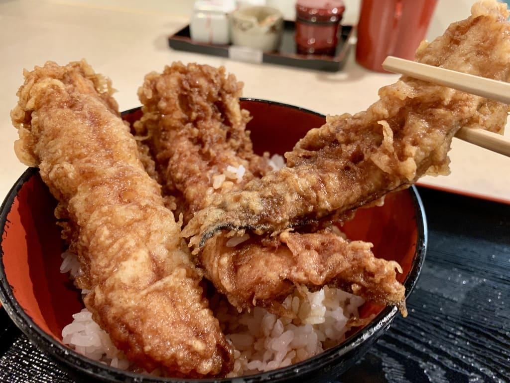 ぎおん天ぷら天周の穴子天丼実食