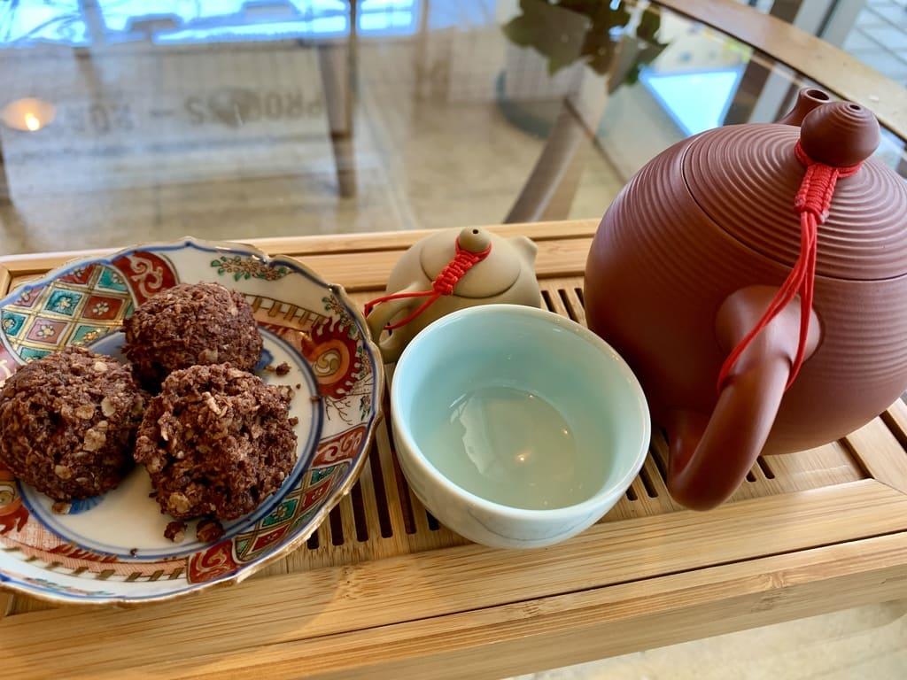 Goodman Roaster Тайваньский кофе Alishan в Киото, крупный план