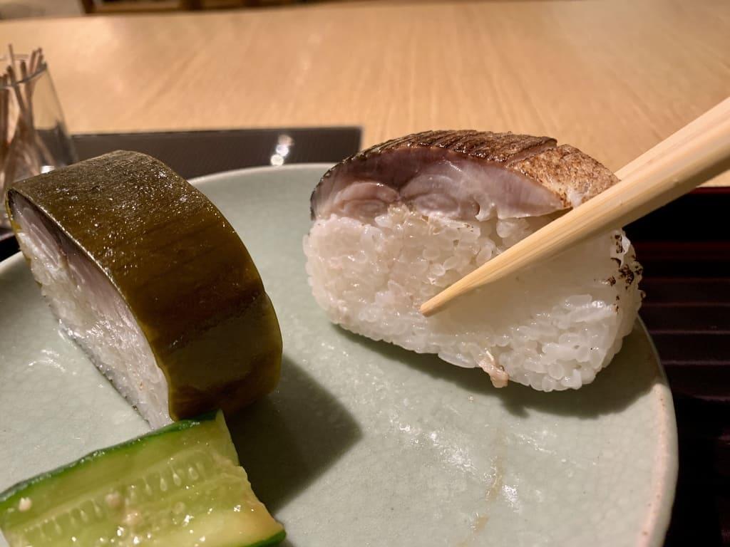 はしたての炙り鯖寿司実食
