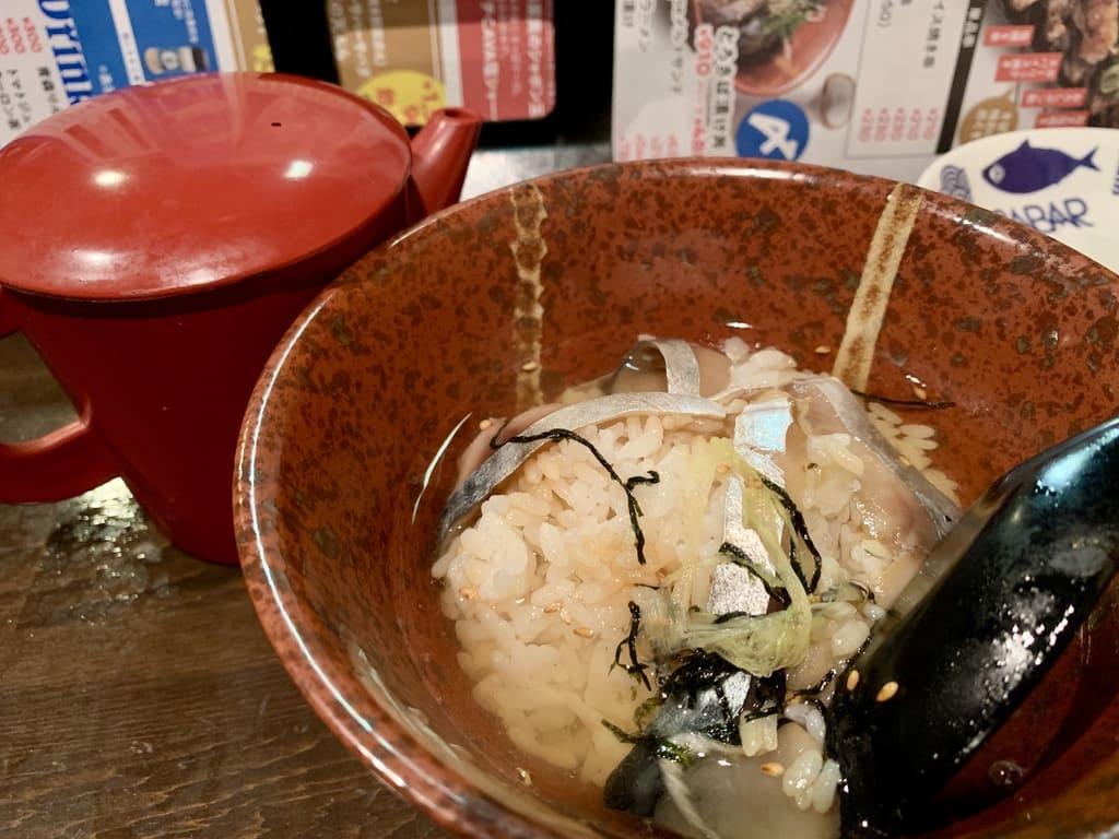とろさば料理専門店SABAR大阪福島店のとろさば漬け丼実食
