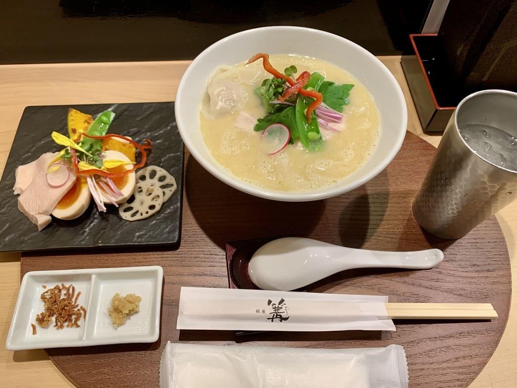 銀座 篝本店の特製鶏白湯soba
