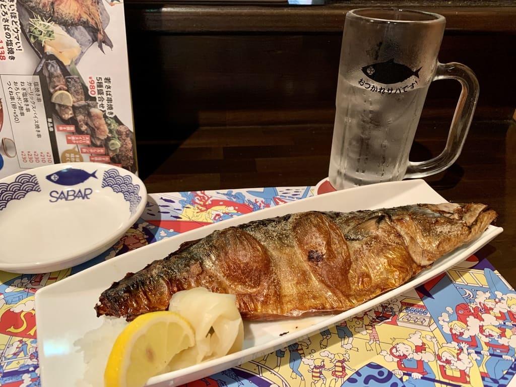とろさば料理専門店SABAR大阪福島店のメガとろさばの塩焼き