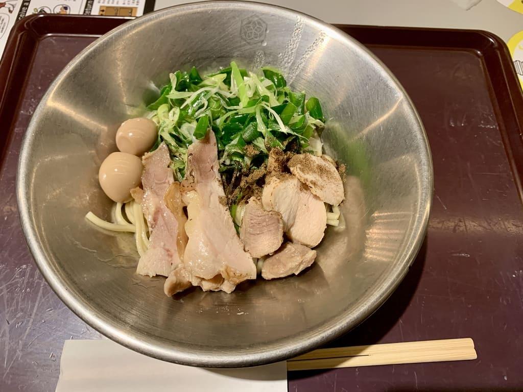 京都千丸しゃかりきmurasakiの九条ねぎの醤油まぜそば