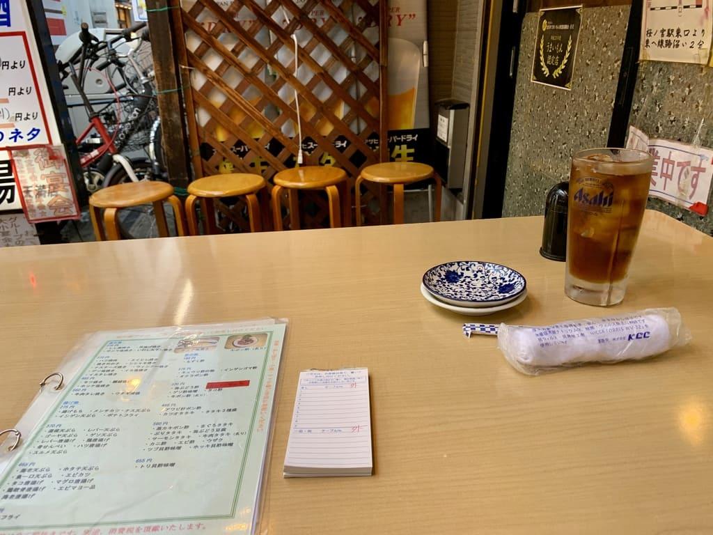 穴場寿司天満店の注文方法