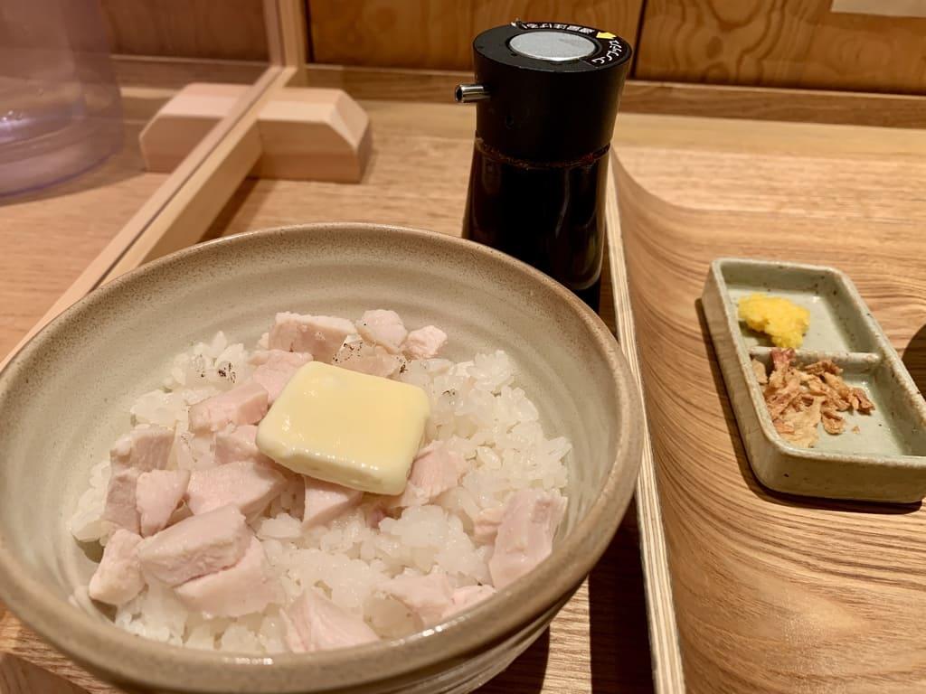 銀座 篝ルクア大阪店の鶏チャーシューバターごはん