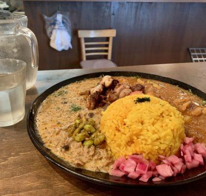 カオススパイスダイナー大阪店のあいがけカレー