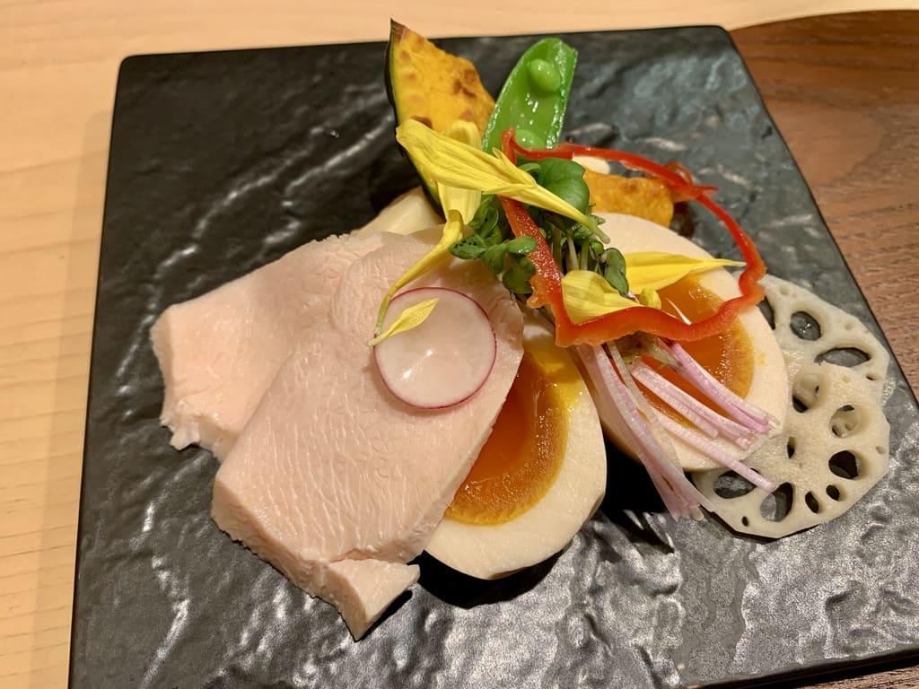 銀座 篝本店の特製鶏白湯soba別皿