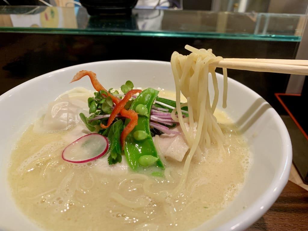 銀座 篝本店の特製鶏白湯soba実食