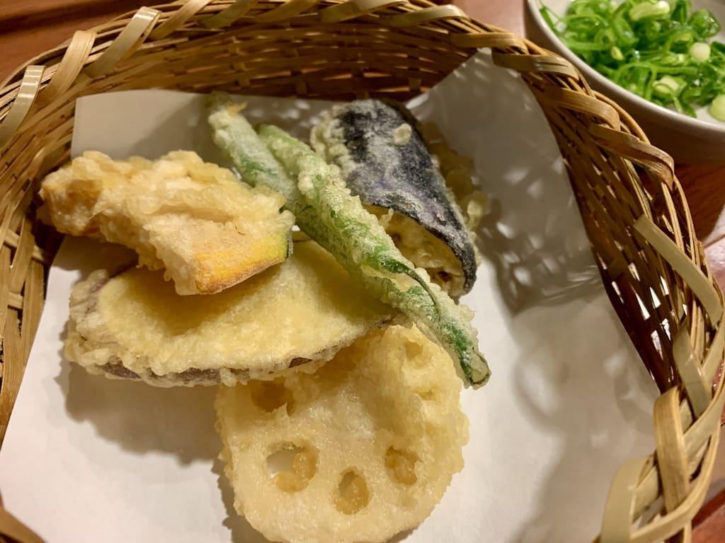 南禅寺順正の野菜の天ぷら