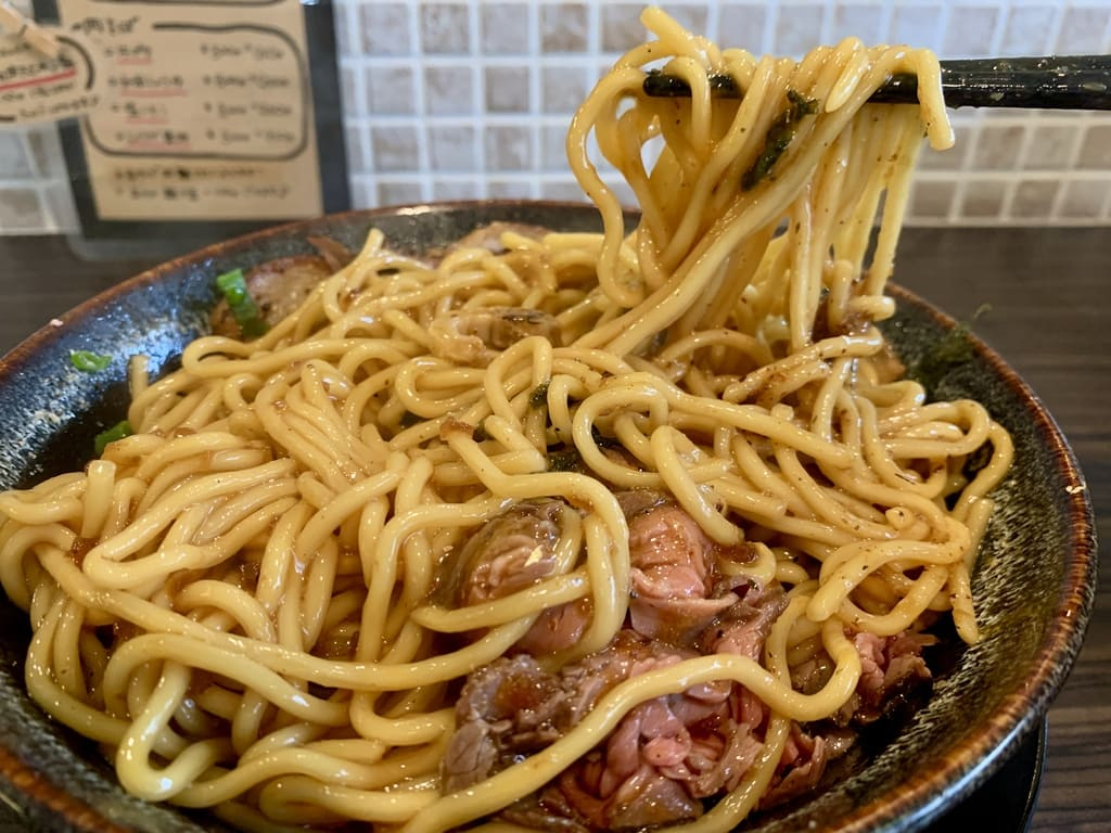 Meat noodles Hidamari-an meat mixed soba special meal