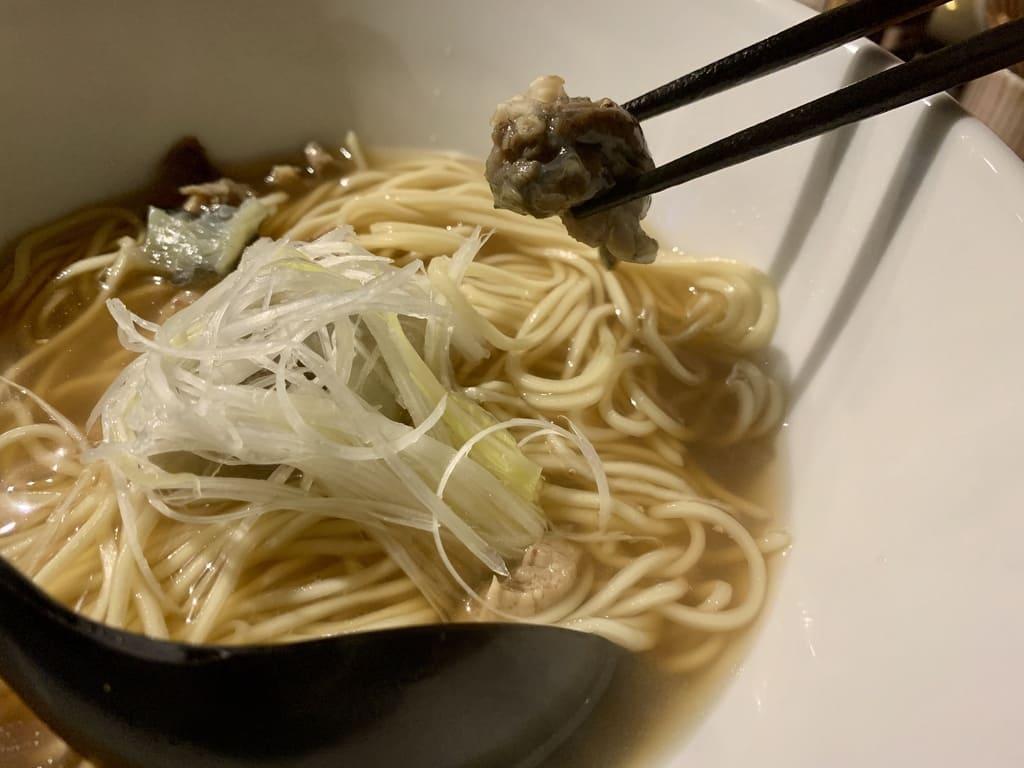 Machiya's Ramen Bar K's Suppon Ramen Suppon Meat