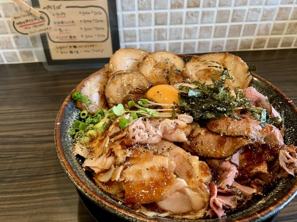 肉麺 ひだまり庵の肉肉まぜそば特盛