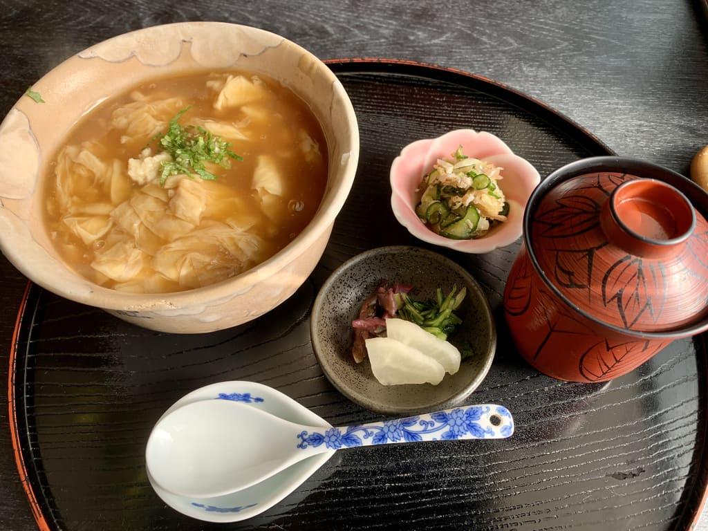 Mangkuk yuba mentah Toyoke Chaya