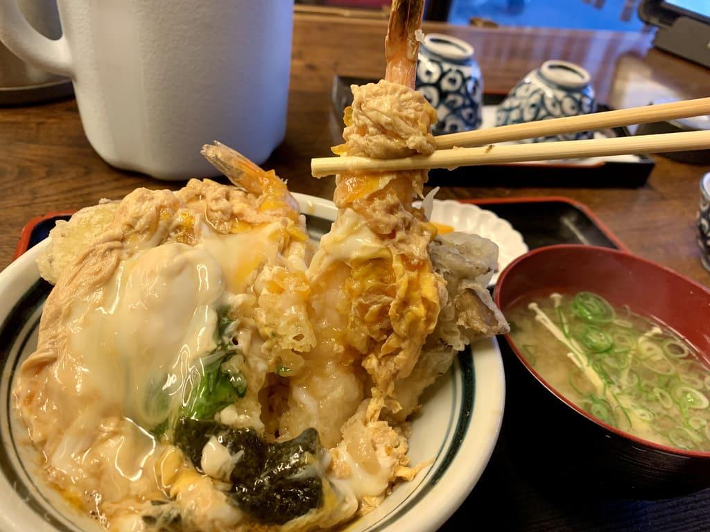 こがらや福島店の天とじ丼実食