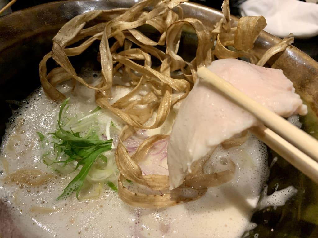座銀の鶏soba鶏チャーシュー