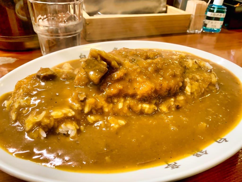 Côtelette de porc au curry Hakugintei