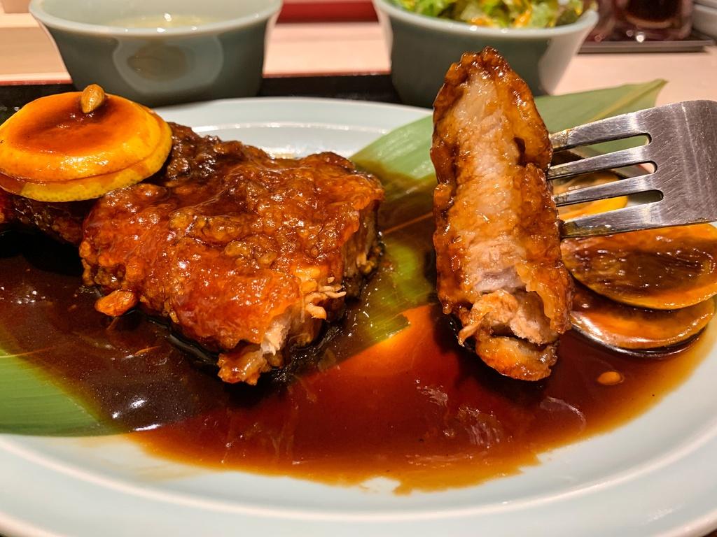 大衆中華食堂若林の名物酢豚実食