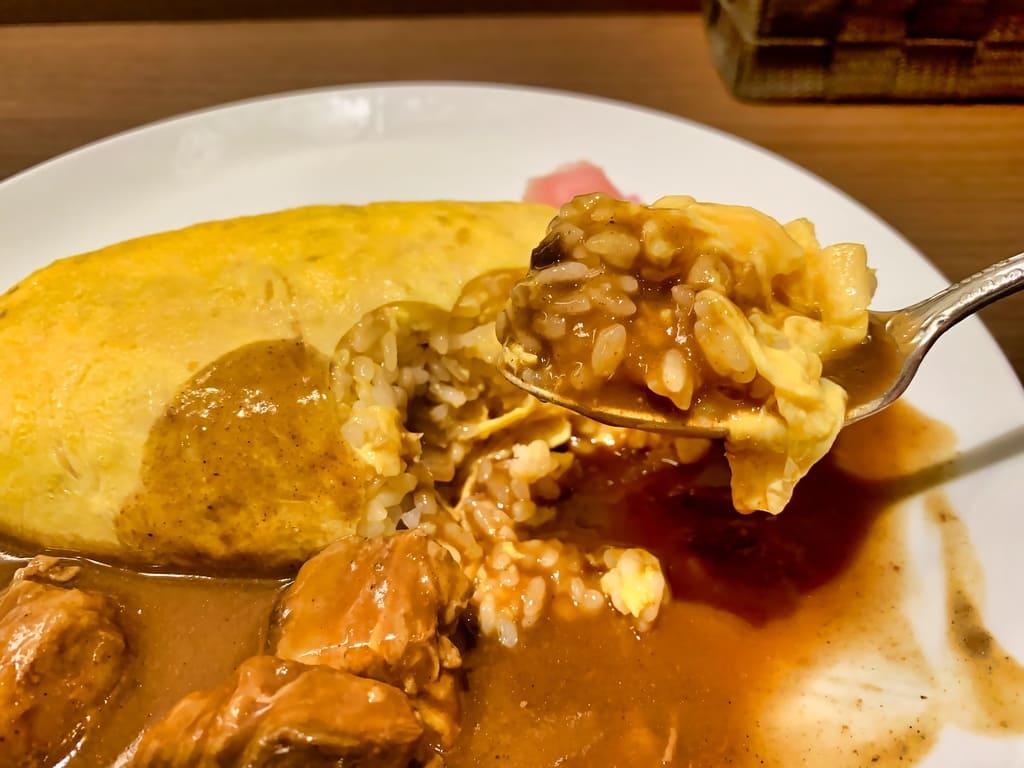 北極星 京都ポルタ店のビーフカレーオムライス実食