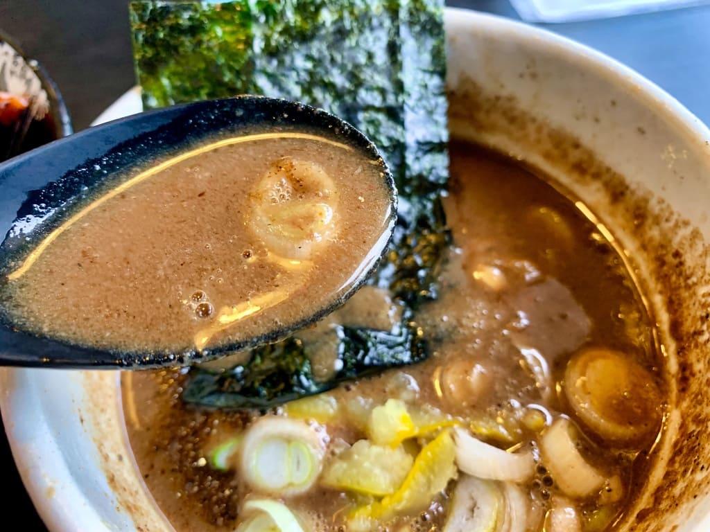 麺屋たけ井の特製つけ麺スープ