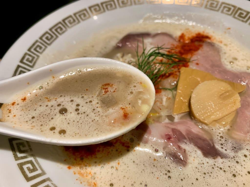 まるでさんかくの鯛白湯とろりスープ