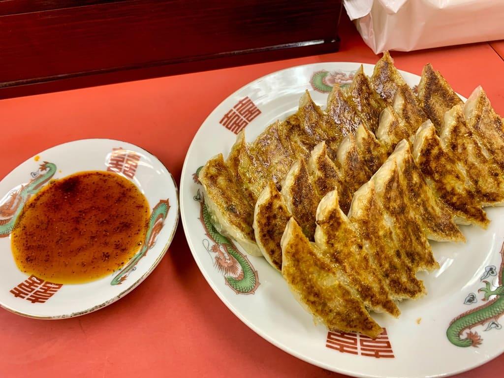 丸正餃子店本店の餃子3人前2