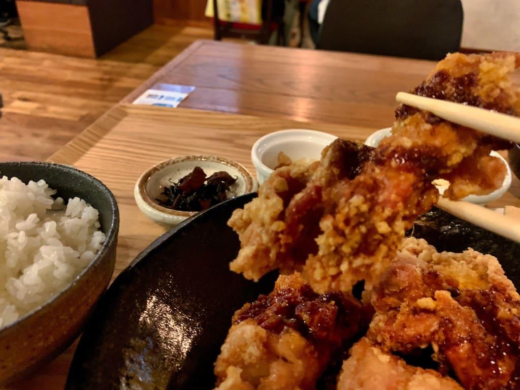 隈本総合飲食店maoの唐揚げ食べ放題ランチ実食