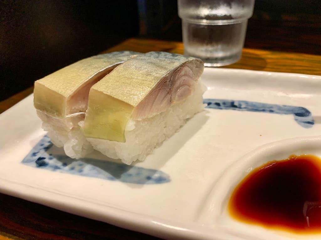 サバ6製麺所 西中島南方店の鯖寿司