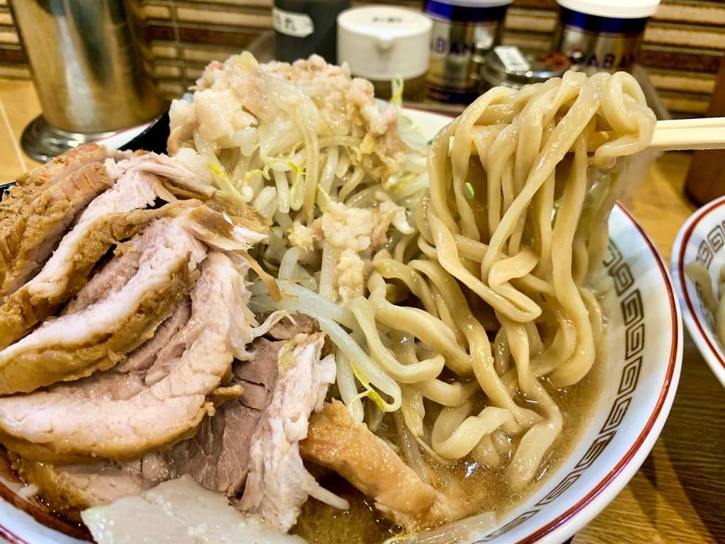 ラーメン豚山 南船場店の小ぶたダブルつけ麺実食