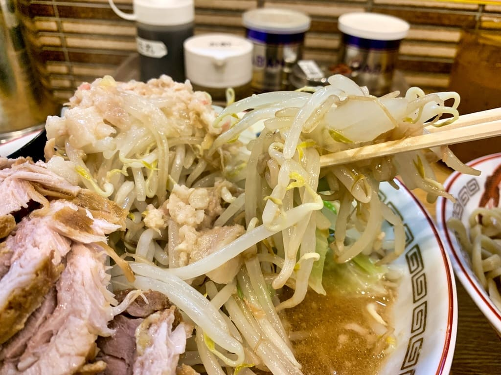 ラーメン豚山 南船場店の小ぶたダブルつけ麺野菜