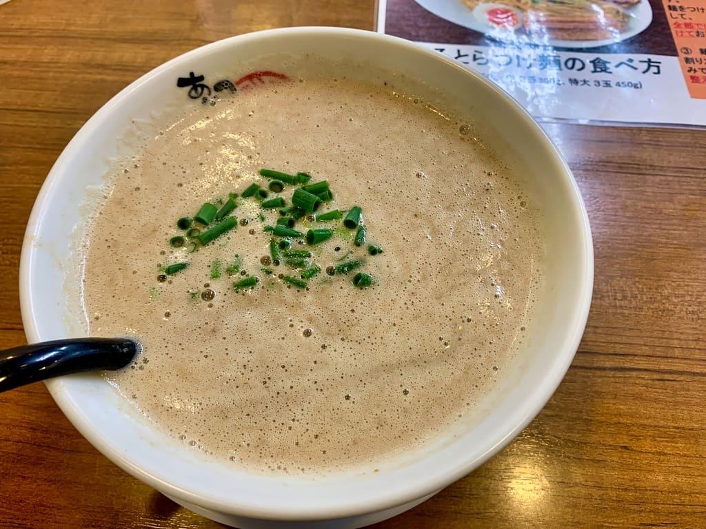 あいつのラーメンかたぐるま本店のうるとらつけ麺スープ