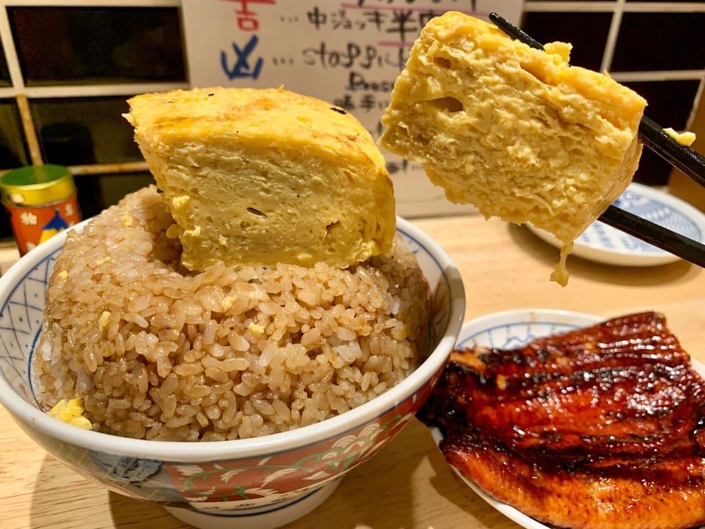 いづも ルクア店のそびえる鰻玉丼実食2