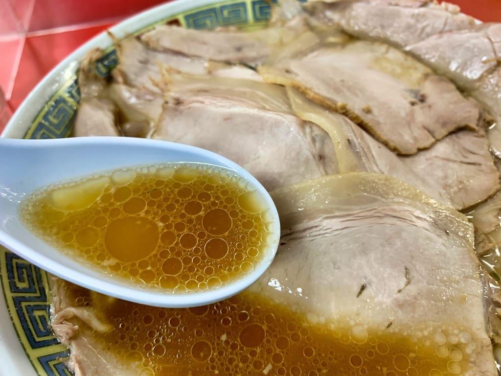 もっこす神戸総本店のチャーシューメンスープ