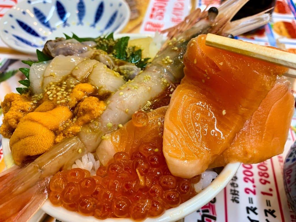 滝波食堂のたきなみ丼実食2