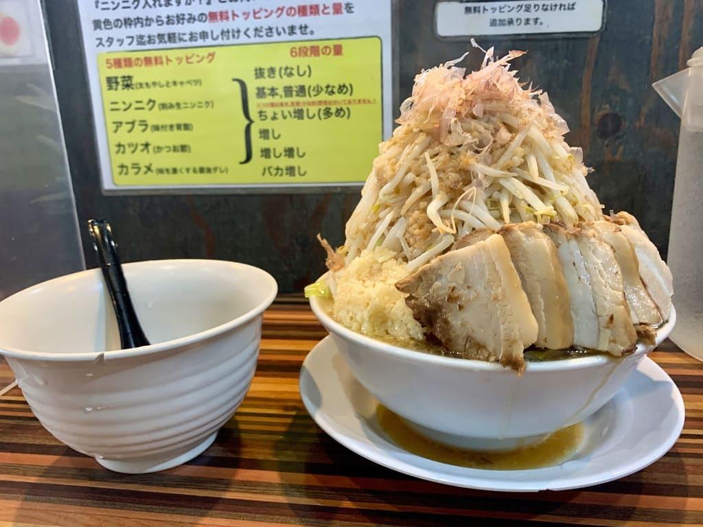 ラーメンつけ麺笑福西中島店の豚Wラーメン