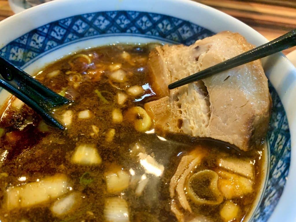 ラーメン つけ麺 笑福の特製つけ麺大盛りチャーシュー