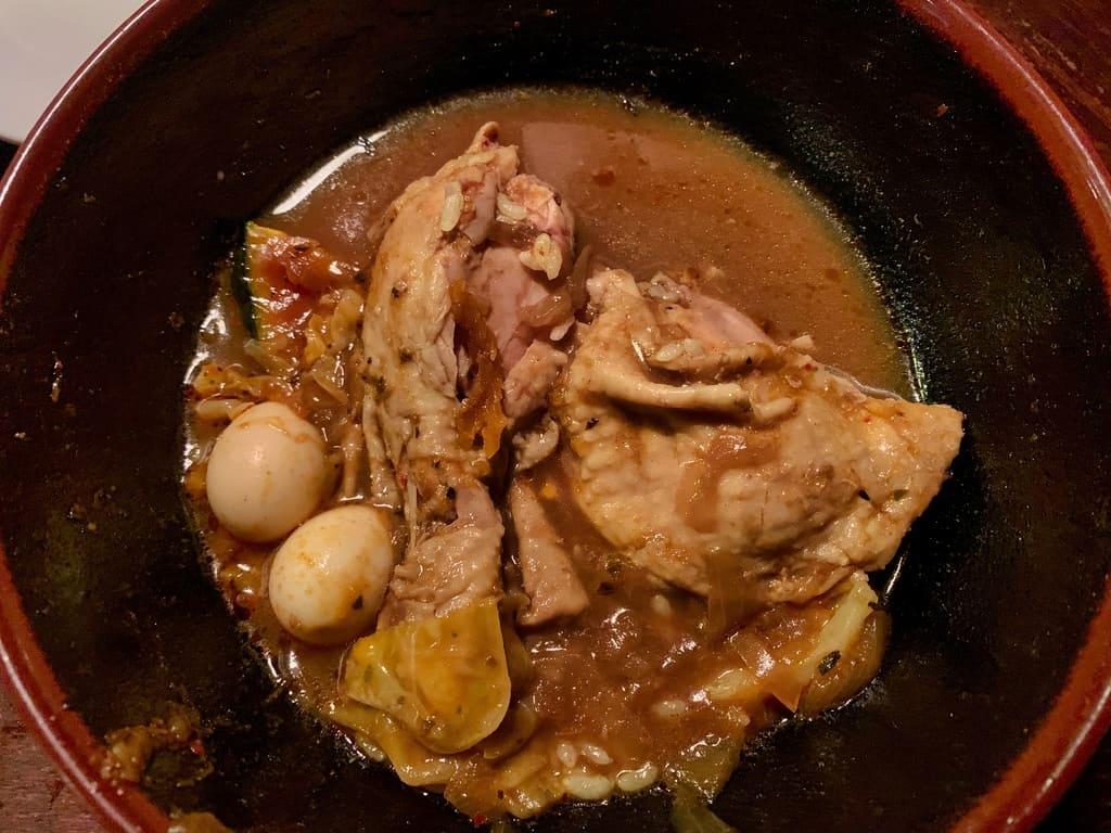 アジアンバーラマイ札幌本店のチキンスープカレー実食4